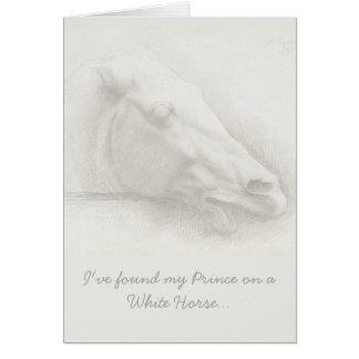 Het lichte Witte HoofdPortret Vintage Valentijn Briefkaarten 0