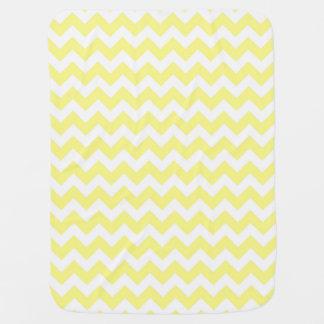 Het lichtgele Witte Patroon van de Zigzag van de Baby Dekentje