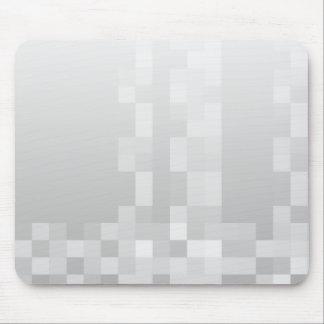 Het lichtgrijze en Witte Patroon van Vierkanten Muismat