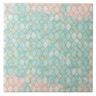 Het lichtrose en patroon van Aqua Maroccan Tegeltje