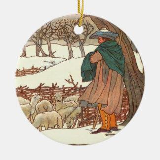 """Het """"lied van de winter """" rond keramisch ornament"""
