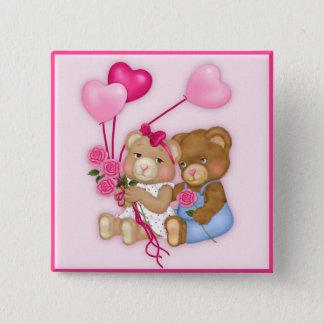 Het liefje draagt vierkante button 5,1 cm