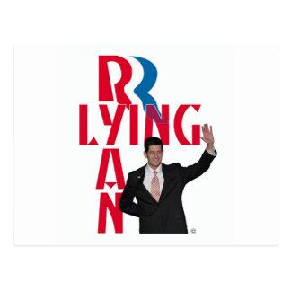 Het liggen Ryan Briefkaart