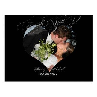 Het Lijst/het Huwelijk van de Foto van het Hart Briefkaart