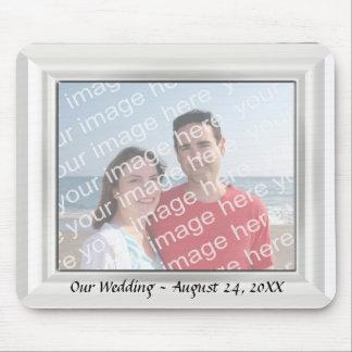 Het Lijst Mousepad van de Foto van het Huwelijk Muismat