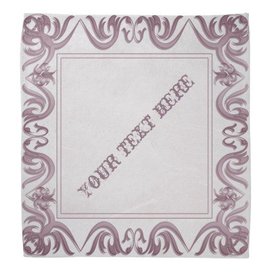 het lijst van de damaststijl op grunge bandana