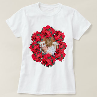 Het Lijst van de Foto van de Poinsettia van T Shirt