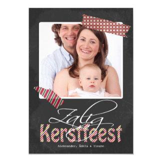 Het Lijst van de Foto van Kerstfeest van Zalig en 12,7x17,8 Uitnodiging Kaart