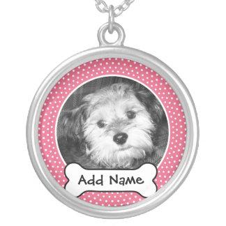 Het Lijst van de Sjabloon van de Foto van de Hond Zilver Vergulden Ketting
