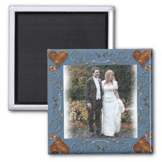 Het Lijst van het huwelijk Vierkante Magneet