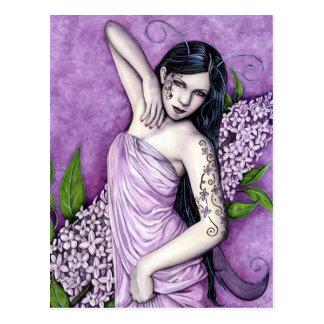 Het lila Briefkaart van de Fee