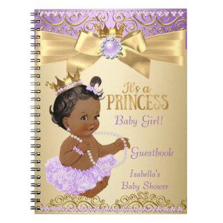 Het lila Gouden Etnische Baby shower van de Ringband Notitieboek