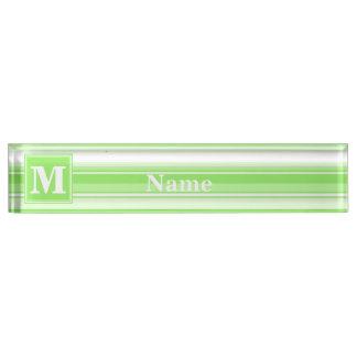 Het limoen groene strepen van het monogram