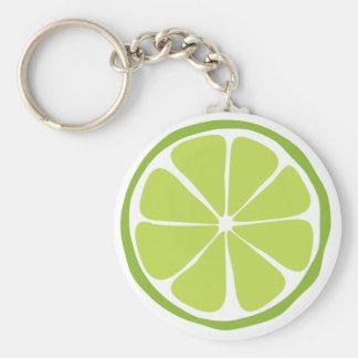 Het Limoen Keychain van de Citrusvrucht van de zom Sleutelhanger