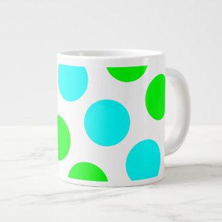 Het Limoen van Aqua en Witte Stippen Grote Koffiekop