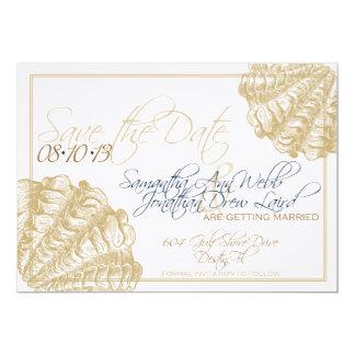 Het linnen bewaart het Huwelijk van het Strand van 12,7x17,8 Uitnodiging Kaart