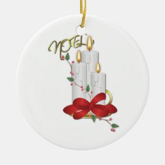 Het Lint van de Kaars van Noel van Ons Huis aan Rond Keramisch Ornament