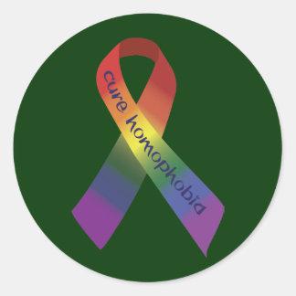 Het Lint van Homophobia van de behandeling Ronde Sticker