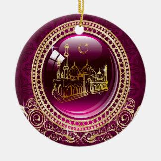 Het lof is aan Allah, Moskee Rond Keramisch Ornament