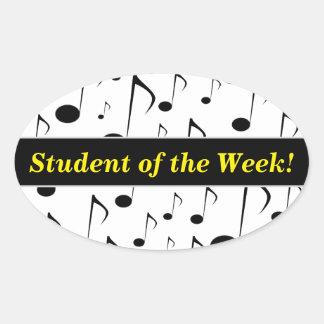 Het Lof van de student + Het Patroon van vele Ovale Sticker