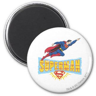 Het Logo en de Vlucht van de superman Koelkast Magneet