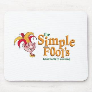 Het Logo Mousepad van de eenvoudige Dwaas Muismatten