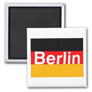 Het Logo van Berlijn in Wit op Duitse Vlag Koelkast Magneetje