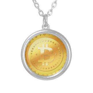 Het Logo van Bitcoin Zilver Vergulden Ketting