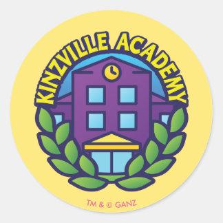 Het Logo van de Academie van Kinzville Ronde Sticker