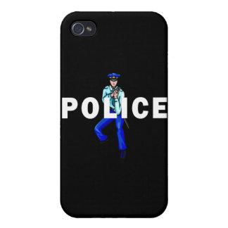 Het Logo van de Actie van de politie iPhone 4/4S Hoesjes