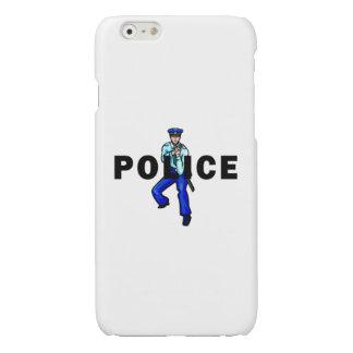 Het Logo van de Actie van de politie iPhone 6 Hoesje Glanzend
