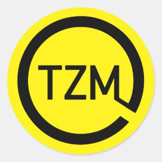 Het logo van de Beweging Zeitgeist Ronde Sticker