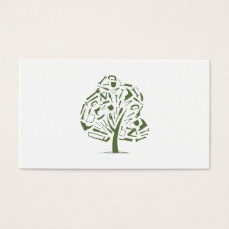 Het Logo van de boom Visitekaartjes