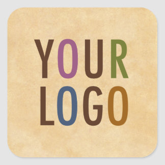 Het Logo van de douane Gemerkt Antiek Vintage Vierkant Sticker