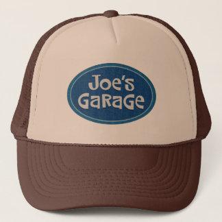 Het Logo van de Garage van Retro Joe Trucker Pet
