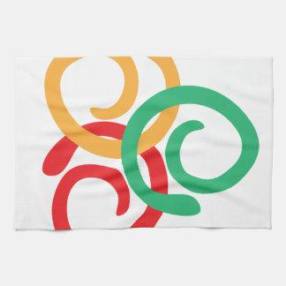 Het logo van de kleur handdoeken