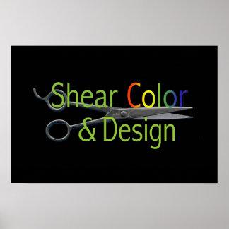 Het Logo van de Kleur & van het Ontwerp van de sch Poster