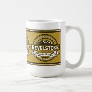 Het Logo van de Kleur van Revelstoke Koffiemok
