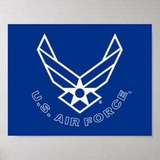 Het Logo van de Luchtmacht - Blauw Poster