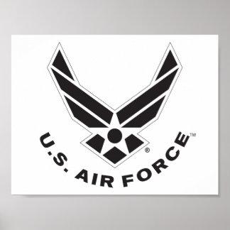Het Logo van de Luchtmacht - Zwarte Poster