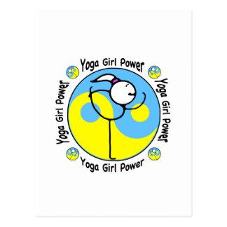 Het Logo van de Macht van het Meisje van de yoga Briefkaart