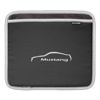 Het Logo van de Mustang van Ford met de Vezel van Sleeves Voor iPad