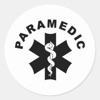 Het Logo van de Redding van de paramedicus EMS Ronde Sticker