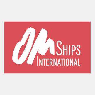 Het Logo van de Schepen van OM Rechthoekige Sticker
