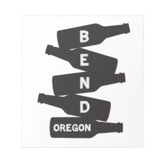 Het Logo van de Stapel van de Fles van het Bier Notitieblok