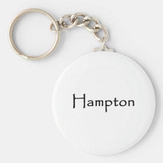 Het Logo van de Tekst van Hampton Sleutelhanger