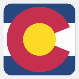 Het Logo van de Vlag van Colorado Vierkante Sticker