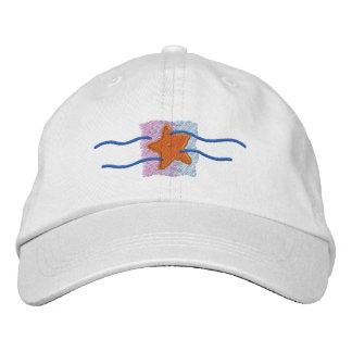 Het Logo van de zeester geborduurde petten