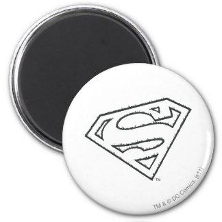 Het Logo van Grunge van de superman Magneet
