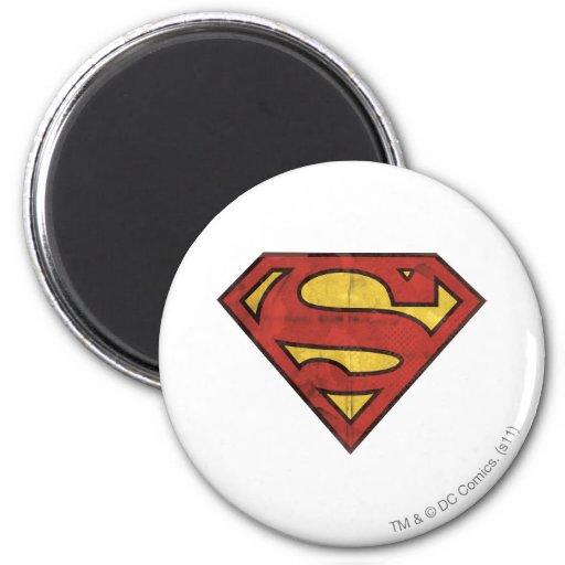 Het Logo van Grunge van de superman Koelkast Magneetjes